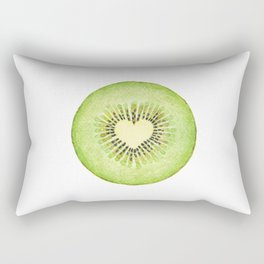 Kiwi illustration, green fruit Rectangular Pillow
