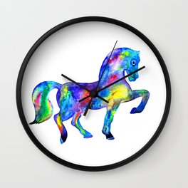 Horse, rainbow Wall Clock