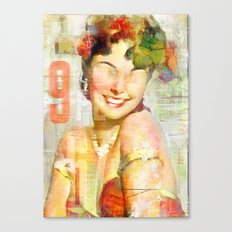 The girl of the 9th floor Canvas Print