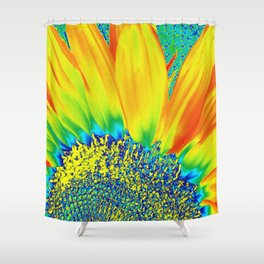 Sunflower Party Shower Curtain