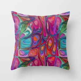 Abstract Paint Colors Throw Pillow