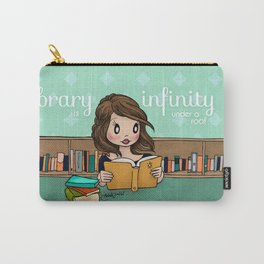 The Library is Infinity Under a Roof Carry-All Pouch