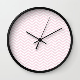 Baby pink chevron Wall Clock