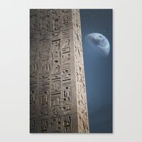egyptian Canvas Prints featuring Egyptian Moon by Vin Zzep