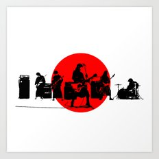 Japanese Band Art Print