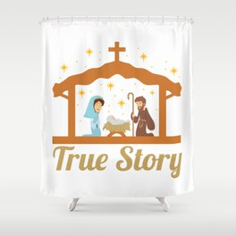Cute Jesus Christ Priest Quote Christmas Xmas Gift Shower Curtain