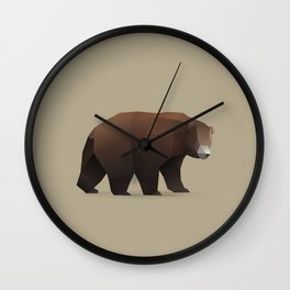 Geometric Bear - Modern Animal Art Wall Clock