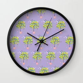 Lemon Tree patten Wall Clock