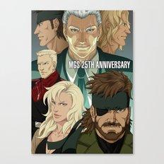 MGS 25TH ANNIVERSARY Canvas Print