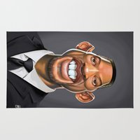 actor Area & Throw Rugs featuring Celebrity Sunday ~ Will Smith by rob art | illustration