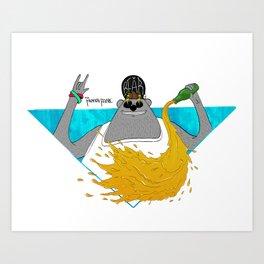 Party Bear Art Print