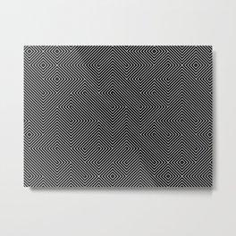 Black lines Metal Print