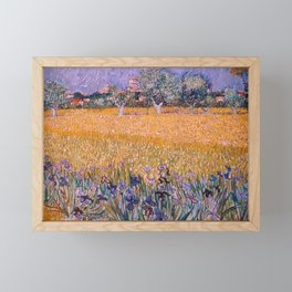 Field with Irises near Arles by Vincent van Gogh Framed Mini Art Print
