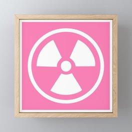 Pink Radioactive Symbol Framed Mini Art Print