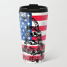 Viper N Bullet Holes On Old Glory Travel Mug