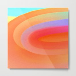 Sorbet Color Swirl Metal Print