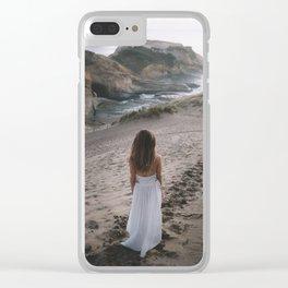 Long Walks on the Beach Clear iPhone Case