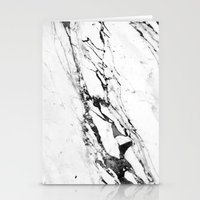 white marble Stationery Cards featuring Marble by Judith Abbott