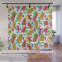 Bright Australian Native Floral Print Wall Mural
