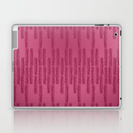 Eye of the Magpie tribal style pattern - raspberry red Laptop & iPad Skin