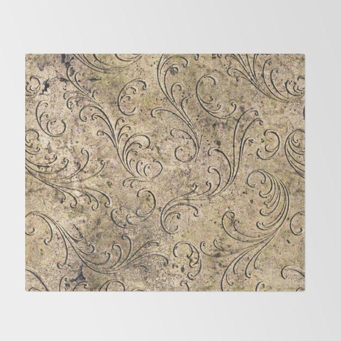 Vintage Damask 17416 Throw Blanket