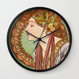Alphonse Mucha  -  Laurel Wall Clock