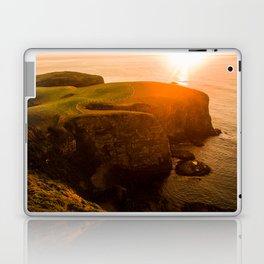 jacks bay new zealand beautiful colors at sunset farmland bay orange sunset Laptop & iPad Skin