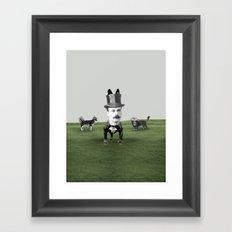 Top dog Framed Art Print