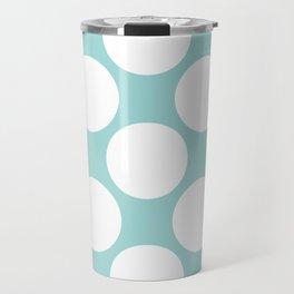 Polka Dots Blue Travel Mug