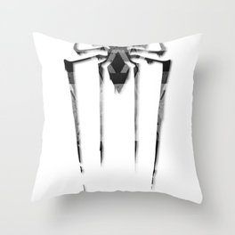 Amazing Spiderman B/W Throw Pillow