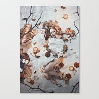 sleeping beauty Canvas Prints featuring Sleeping Beauty by Rose's Creation