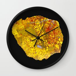 Cady Mountain Yellow Plume Agate Wall Clock