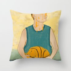 Losing my love for basketball Throw Pillow