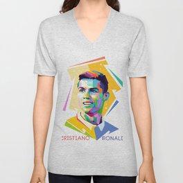 Cristiano Ronaldo In Pop Art Unisex V-Neck