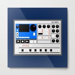 Retro Drum Machine Korg Electribe Sequencer Metal Print