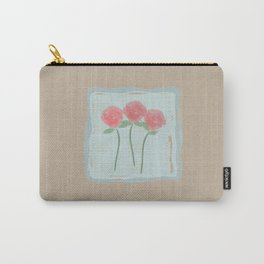 Red Watercolor Roses Carry-All Pouch