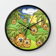 Little Lions. Wall Clock
