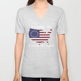 Stand up for Betsy Ross Unisex V-Neck
