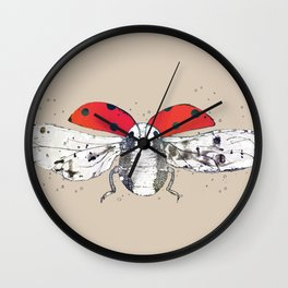 Ladybug - spread your wings Wall Clock