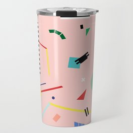 Memphis Geometry Lesson Travel Mug