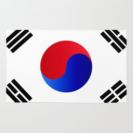 Basic South Korea Flag Rug