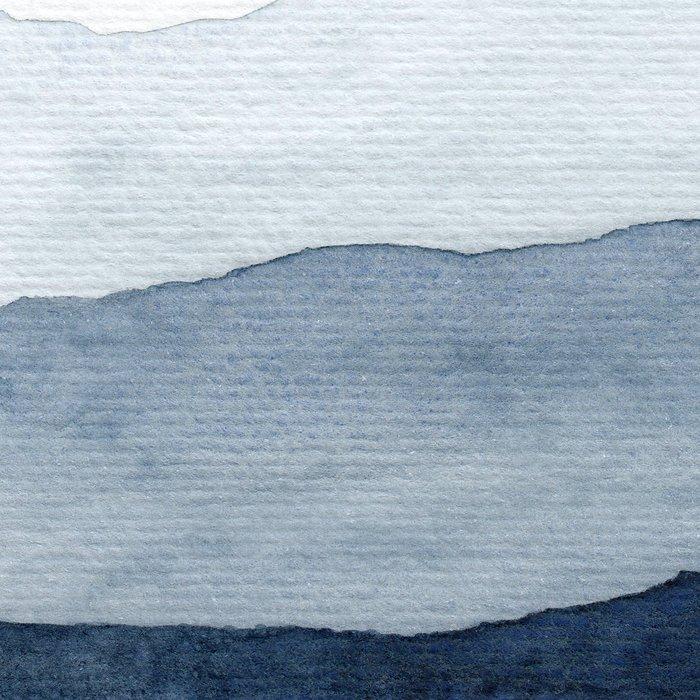 Indigo Abstract Watercolor Mountains Leggings