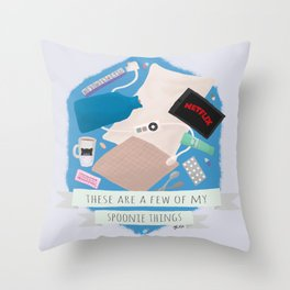 Spoonie Things Throw Pillow