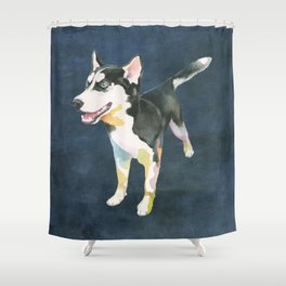 Husky Puppy Shower Curtain