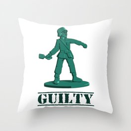 Guilty toy Throw Pillow