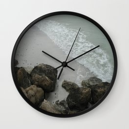 Rocky Shore Wall Clock