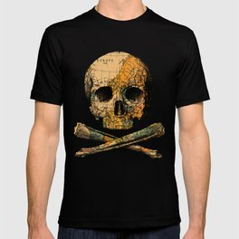 Treasure Map Skull Wanderlust Europe T-shirt