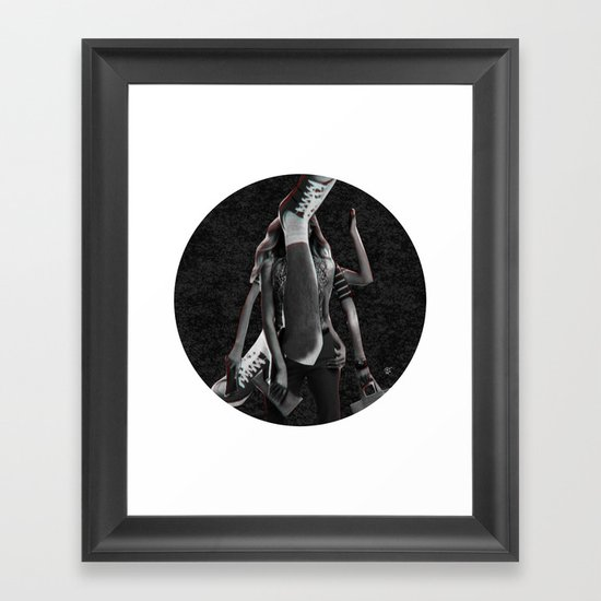 Build a Woman - Cut and Glue · Dizzy Miss Lizzy · Night · Crop Circle Framed Art Print