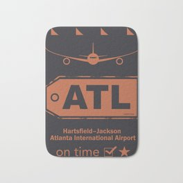 Hartsfield–Jackson Atlanta International Airport tag coffee Bath Mat