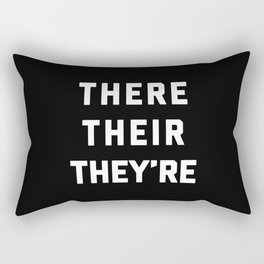 There Their They're Funny Quote Rectangular Pillow